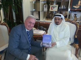 David Neild with the Ruler of Ajman
