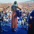 Joni Mitchell performing